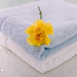 Two Bath towels - Stock Photo
