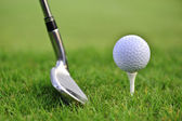 Golf ball with stick — Stock Photo