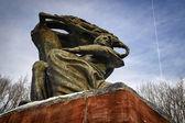 Frederic Chopin monument in Lazienki park — Stock Photo