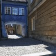 Stock Photo: Archway at tenement house at Warsaw's old town.
