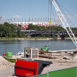 Construction site of the National Football Stadium in Warsaw, — Stock Photo