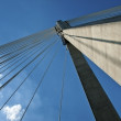 Detail of modern bridge abstract architecture — Stock Photo
