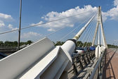 Modern abstract architecture of the bridge in Warsaw, Poland — Stock Photo