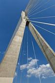 Abstract. Modern suspension bridge. — Stock Photo