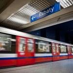Modern metro station. Warsaw in Poland. — Stock Photo #5976100