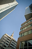 Modern architecture in Warsaw downtown — Stock Photo