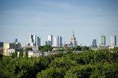 Warsaw city panorama — Stock Photo