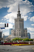Palace of Culture building in Warsaw — Stock Photo