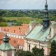 Old church in Sandomierz city in Poland - Stock Photo