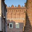 Part of Old Town in Sandomierz, Poland - Stock Photo