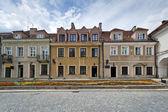 Old Town houses in Sandomierz, Poland — Stock Photo