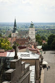 Panorama of Sandomierz with Cathedral, Poland — Stock Photo