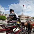 Cabby man on the Old Town square in Krakow, Poland - Lizenzfreies Foto
