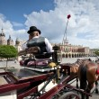 Cabby man on the Old Town square in Krakow, Poland - Stockfoto