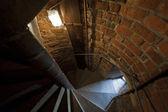 Old stone stairs in Krakow, Poland — Stock Photo