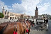 Krakow, polonya eski şehir cabb — Stok fotoğraf