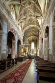 Interior of 12th century Saint Martin's Church in Opatow — Stock Photo