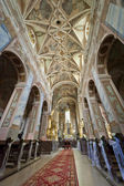 Interior of old 12th century Church in Opatow, Poland — Stock Photo
