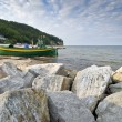 View of the cliff in Gdynia - Stock Photo