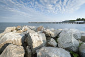 Stones on Baltic sea — Stockfoto