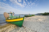 Fishing boat on the seaside — Stock Photo
