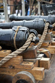 Old cannon on the ship — Stock Photo