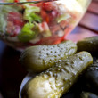 Pickled cucumbers with fresh greek salad - Foto de Stock  