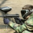 Paintball Player (in profile) — Stock Photo #5659229