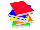 Heap of colored books — Stockfoto