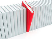 Red book within white ones — Stock Photo