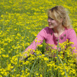 Stock Photo: Girl on spring meadow