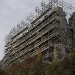 Stock Photo: Castle ruins during renovation
