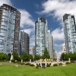 Skyscrapers in Vancouver, British Columbia, Canada — Stockfoto