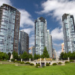Skyscrapers in Vancouver, British Columbia, Canada — Stock Photo