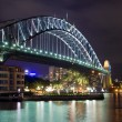 Sydney Harbour Bridge at night, Australia — Stock Photo