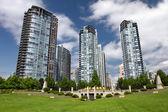 Skyscrapers in Vancouver, British Columbia, Canada — Stock Photo