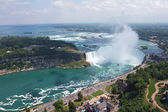 Niagara Falls. View on Horseshoe Waterfall from Canadian Side — Stock Photo