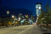 Calgary at night, Canada — Stock Photo