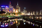 Melbourne City at night, Australia — Stock Photo