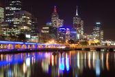 Melbourne at night, Australia — Stock Photo