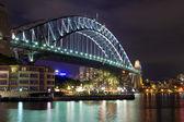 Sydney Harbour Bridge at night, Australia — Stock Photo