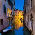 Venice by night, Italy — Stock Photo