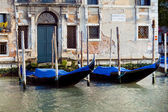 Gondolas in Venice in Italy — Stock Photo