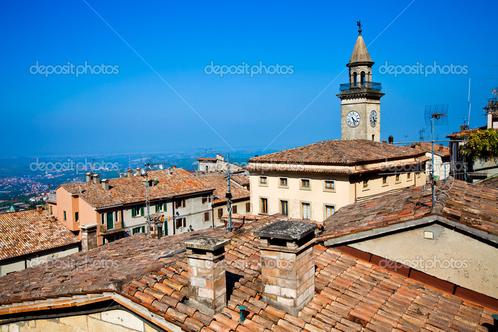 Borgo Maggiore, the city in San Marino  Stock Photo #5776913