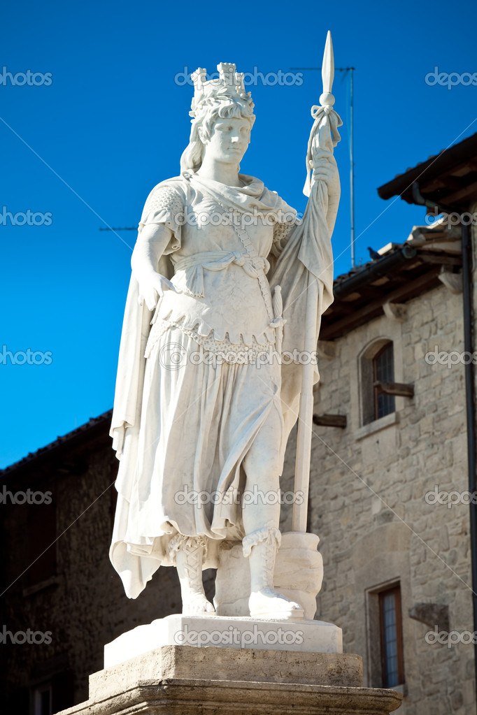Statue of Liberty in republic of San Marino — Stock Photo #6174532