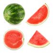 Watermelon cut in 4 different shapes — Stock Photo