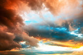 Dramatic sunset cloudscape — Stock Photo