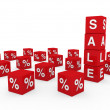 3d sale cube red — Stock Photo