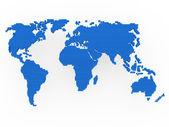World map blue — Stock Photo