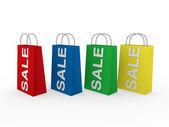 3d sale bag colorful — Stock Photo